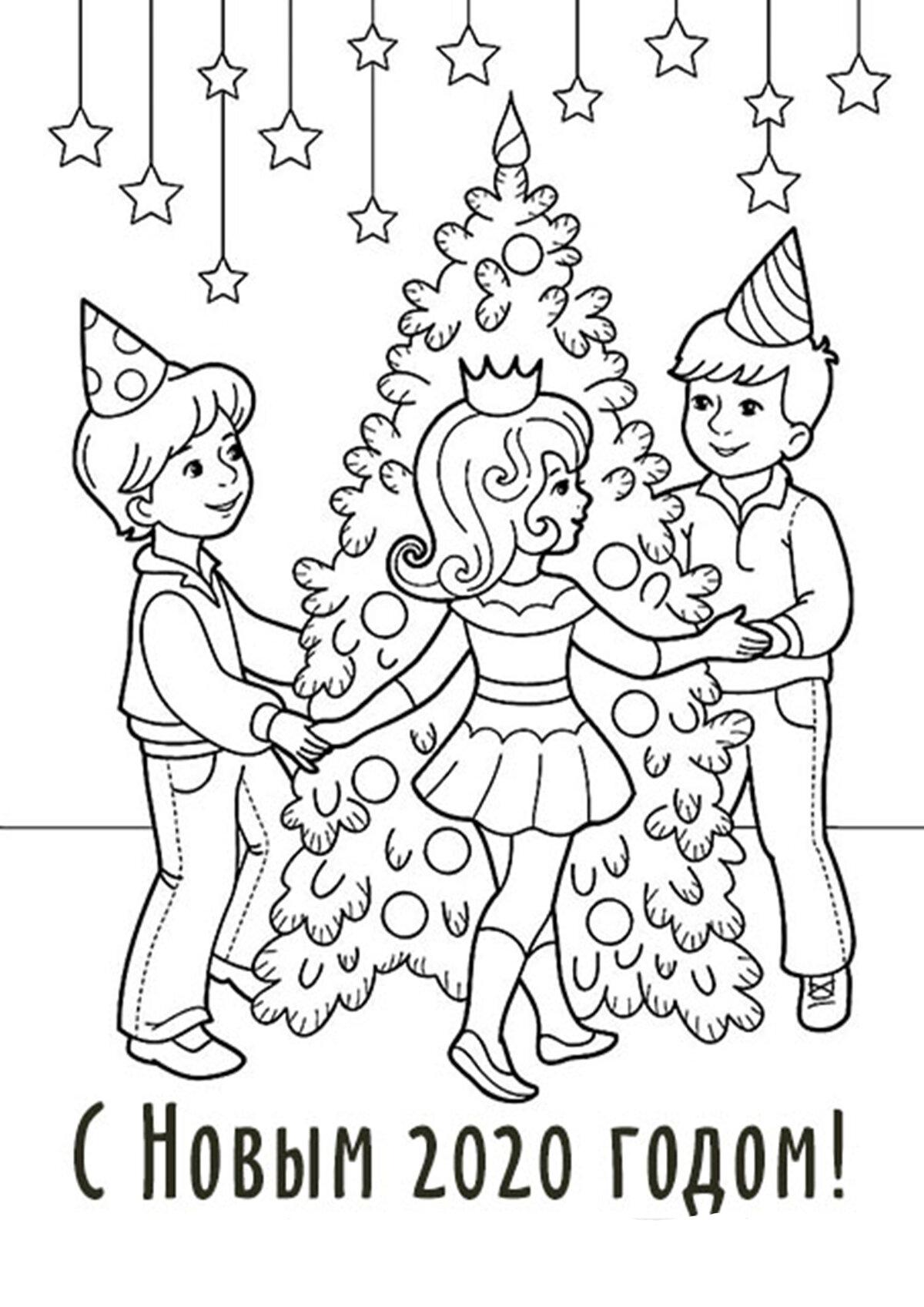 разукрашки новогодних открыток фантазию попробуйте заранее