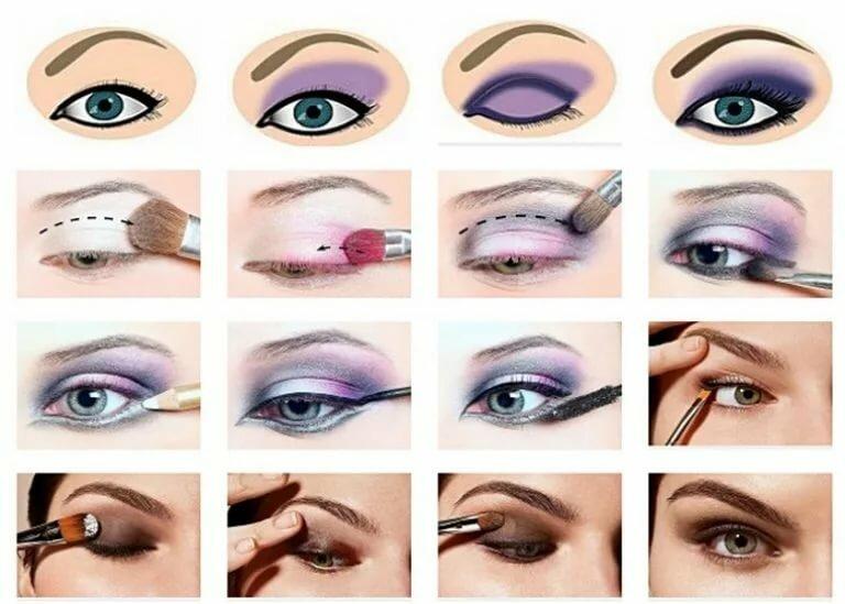 учимся красить глаза в картинках его почти