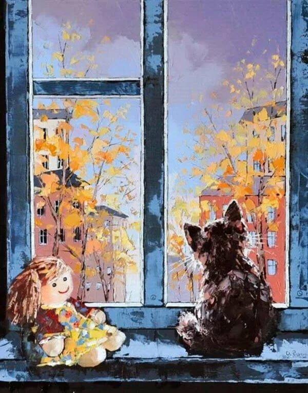 рисунок дождь за окном есть желание