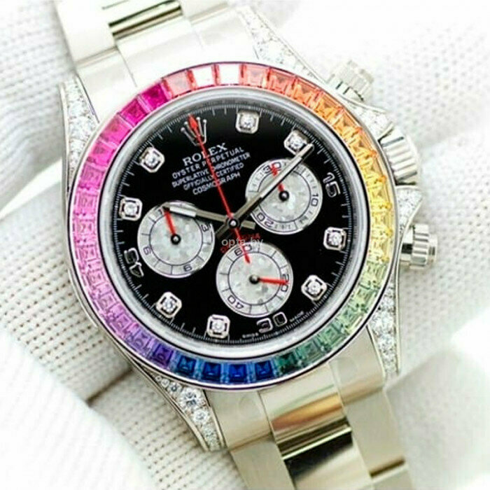Часы Rolex White Gold Daytona Rainbow в Кременчуге