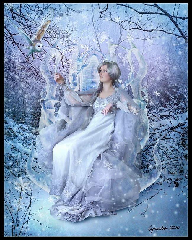 Картинки сказочные девушек зимы