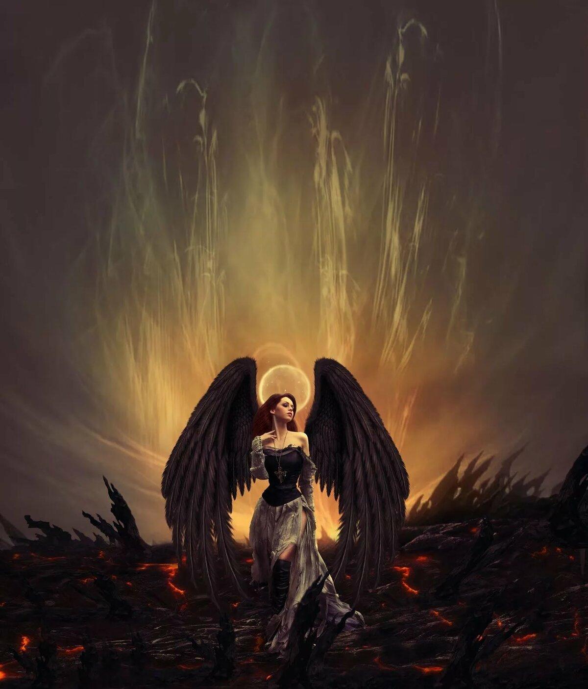 Картинки черных ангелов