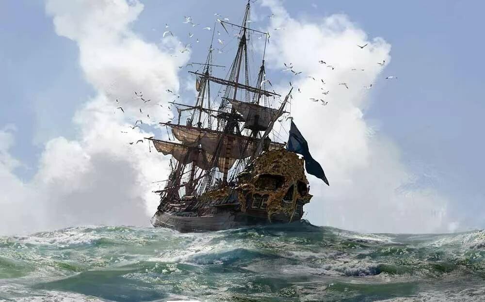 Днем, картинки пиратских кораблей