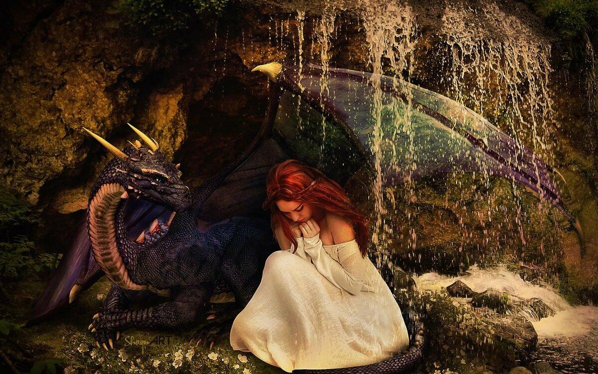 Картинки девочки дракона