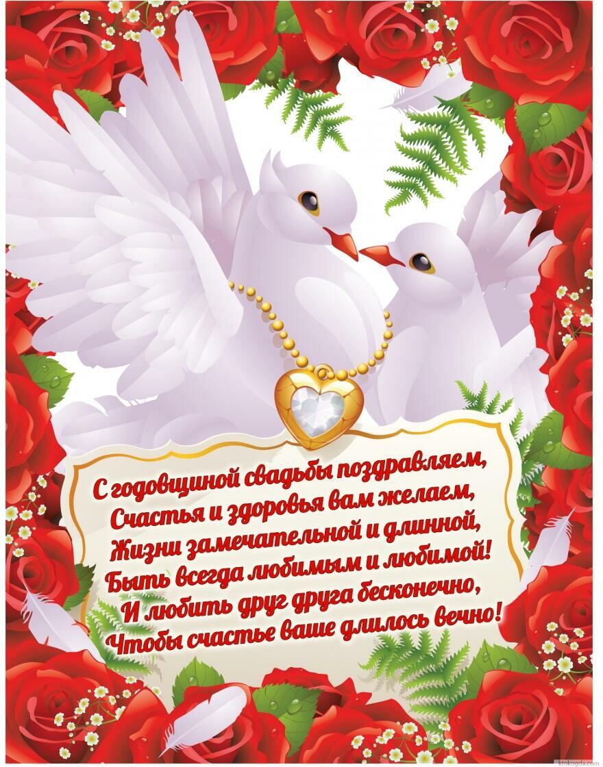 Анимированная, красивые открытки для годовщины свадьбы