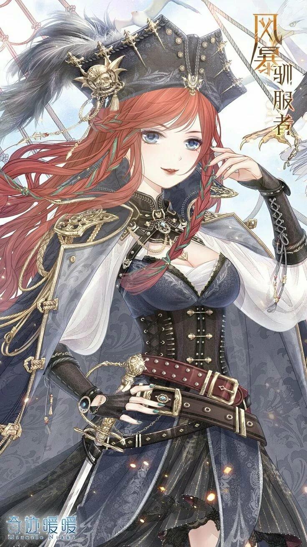 Картинки аниме девушки пираты