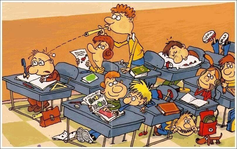 Смешные рисунки школы, открытки