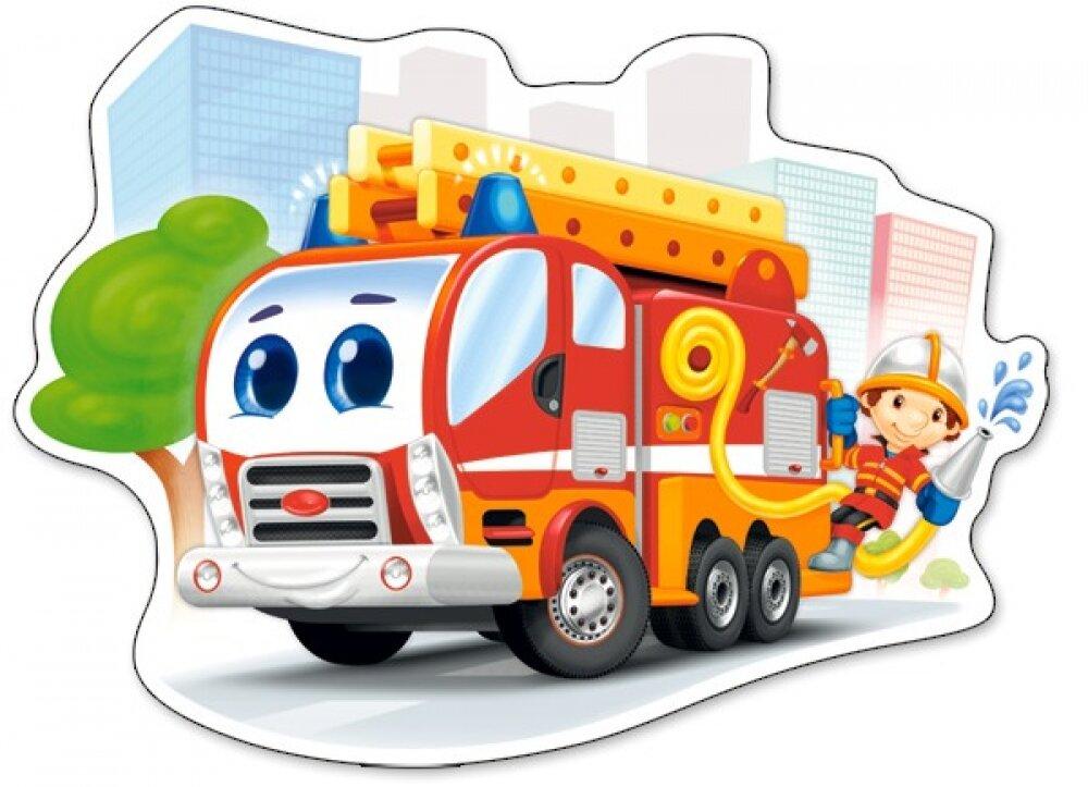 Детские картинки пожарная машина, вечер