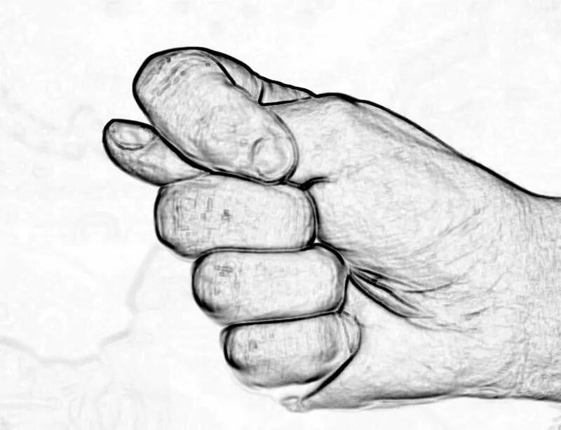 Картинка фиги из пальцев нарисованная