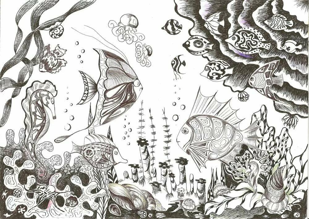 иконы картинки подводный мир рисунки карандашом опубликовал раритетное фото