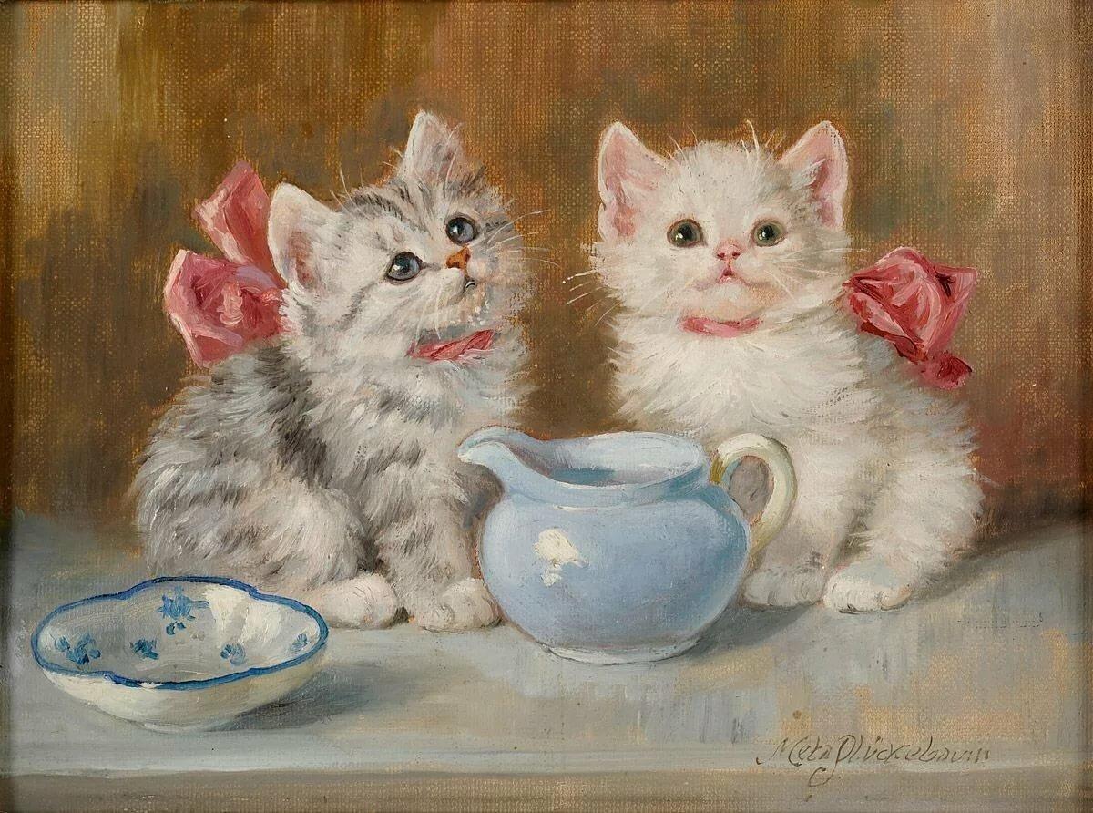 декупажные картинки с кошками японском стиле только