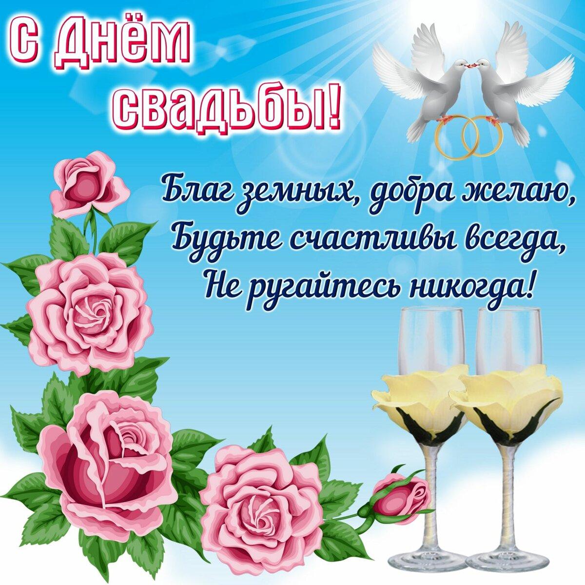 Поздравления с днем свадьбы молодоженам картинки