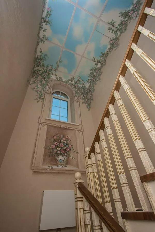 придут помощь фотообои на лестнице в частном доме фото для