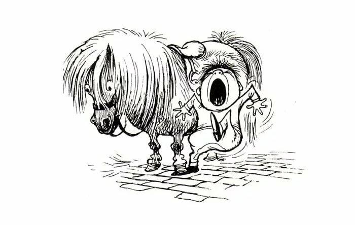 Днем, картинки смешных лошадей нарисованные