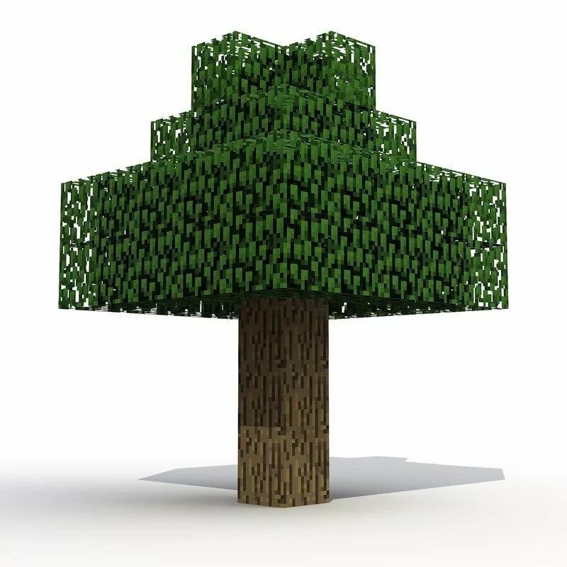 картинка дерева из майнкрафта лагеря, настолько большие
