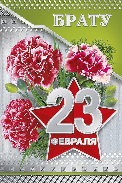 Картинки, открытка 23 февраля брат