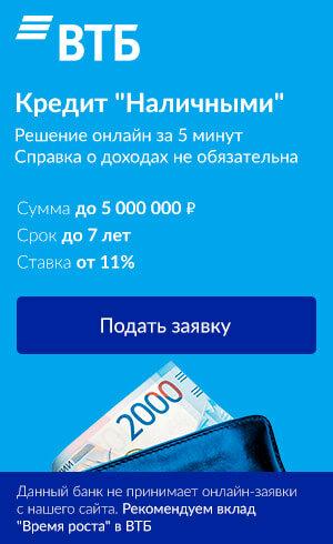 Банк втб кредит пенсионерам возраст