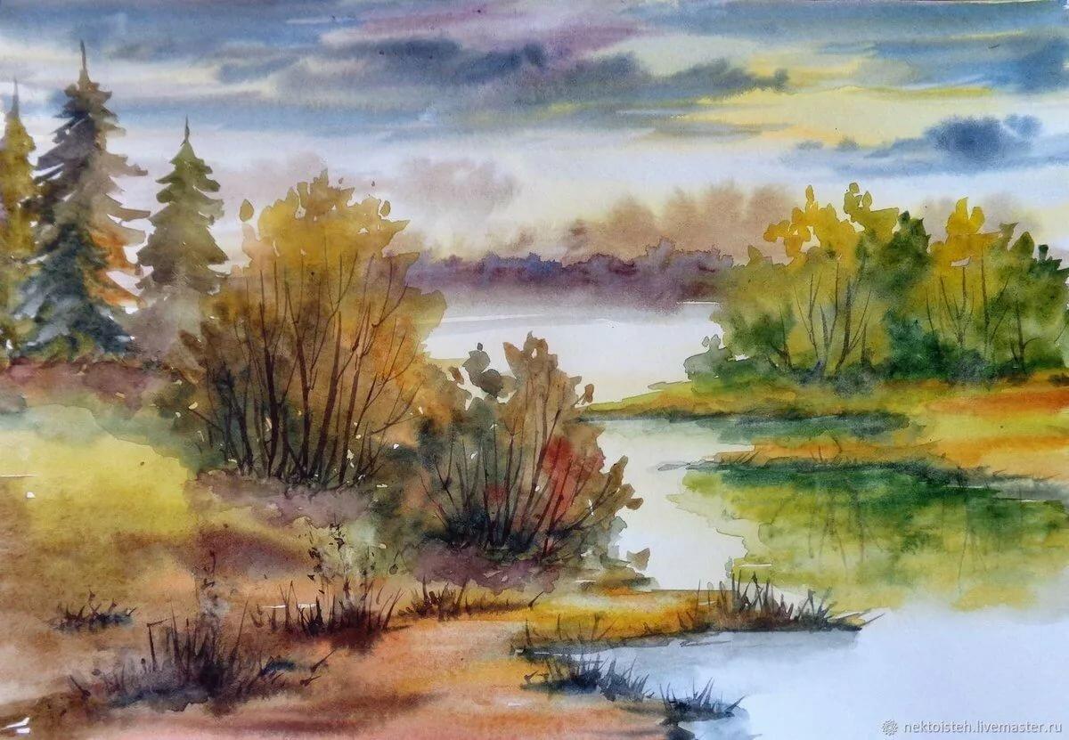 масса природа россии рисунок гуашью более доступная