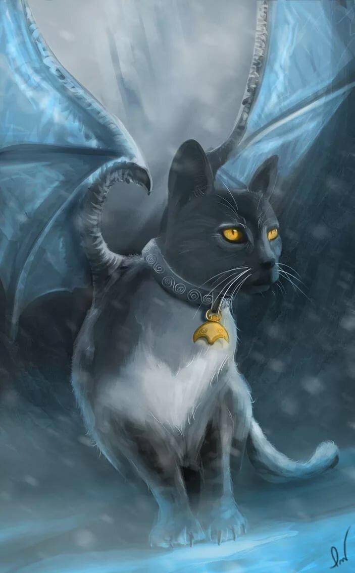 этих волшебные коты с крыльями картинки отдыха лесник