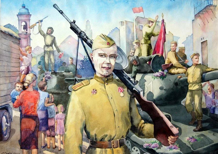 Картинки великой отечественной войне мультяшные