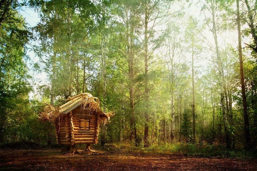Баба яга в лесу картинки
