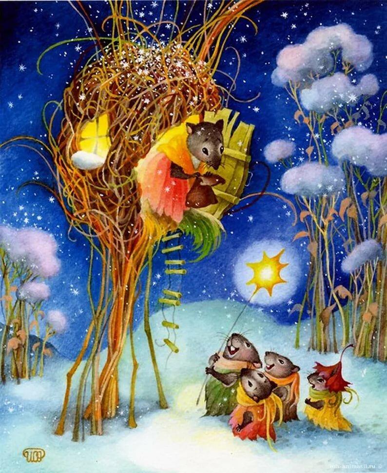 Спасибо хорошего, картинки веселые мышки зимой