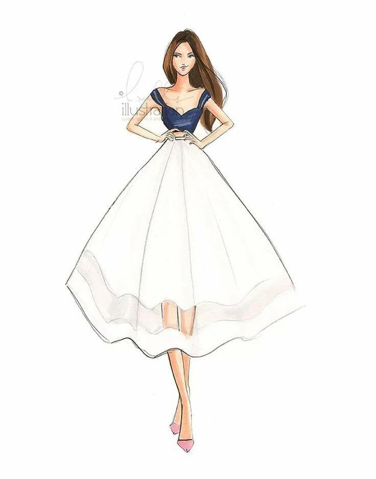 Девушки для срисовки в платьях