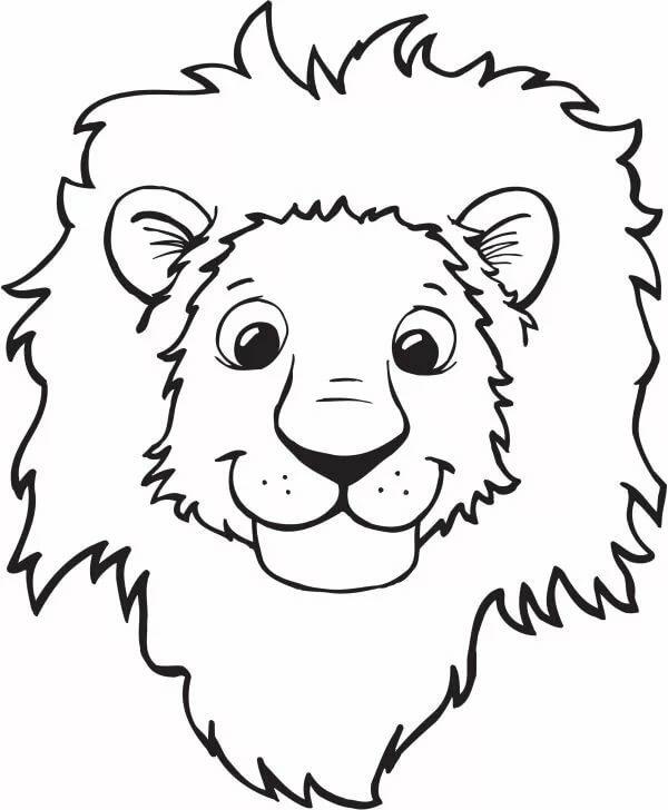 Картинки для раскраски львенок