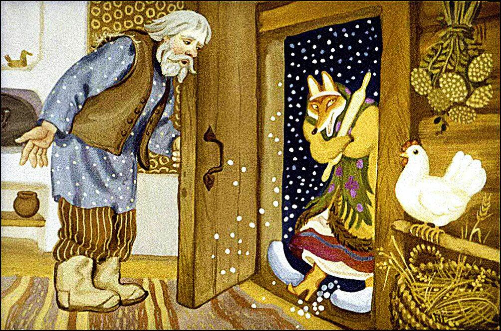 Сказки в картинках лисичка со скалочкой