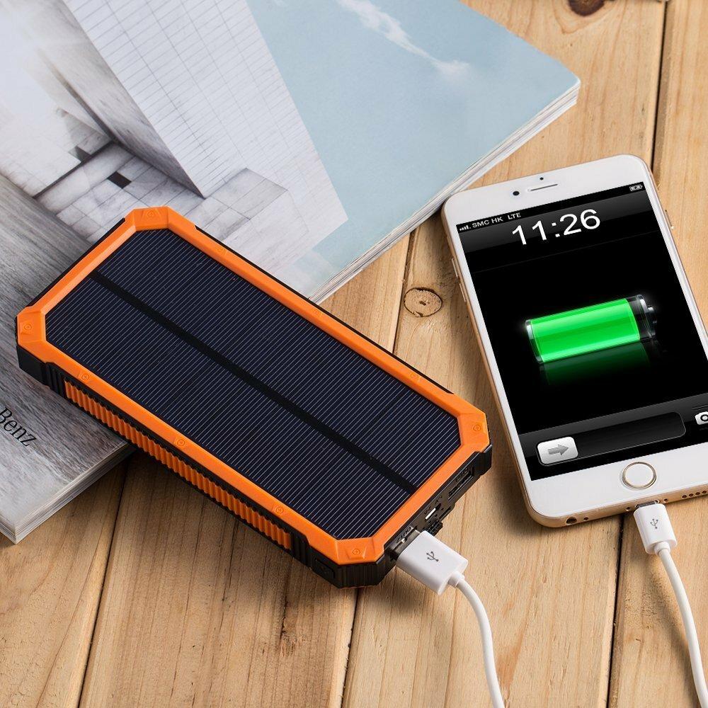 Зарядка для телефона на солнечных батареях фото