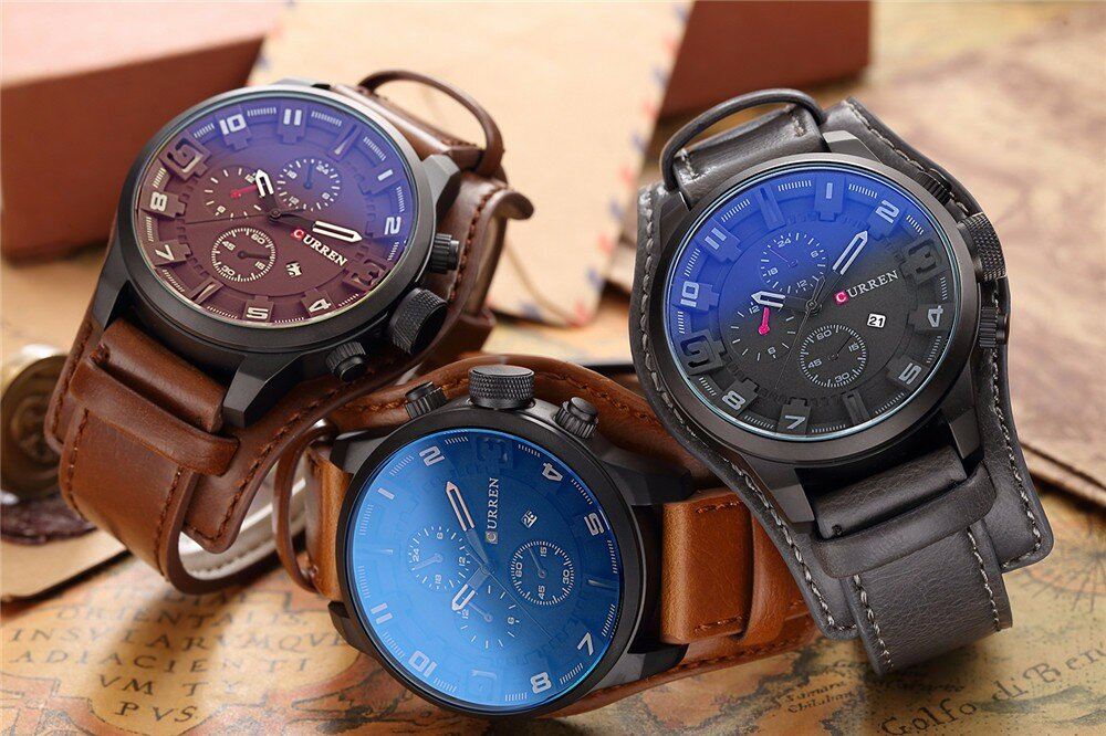 Элитные мужские часы Curren 8225 в Иркутске