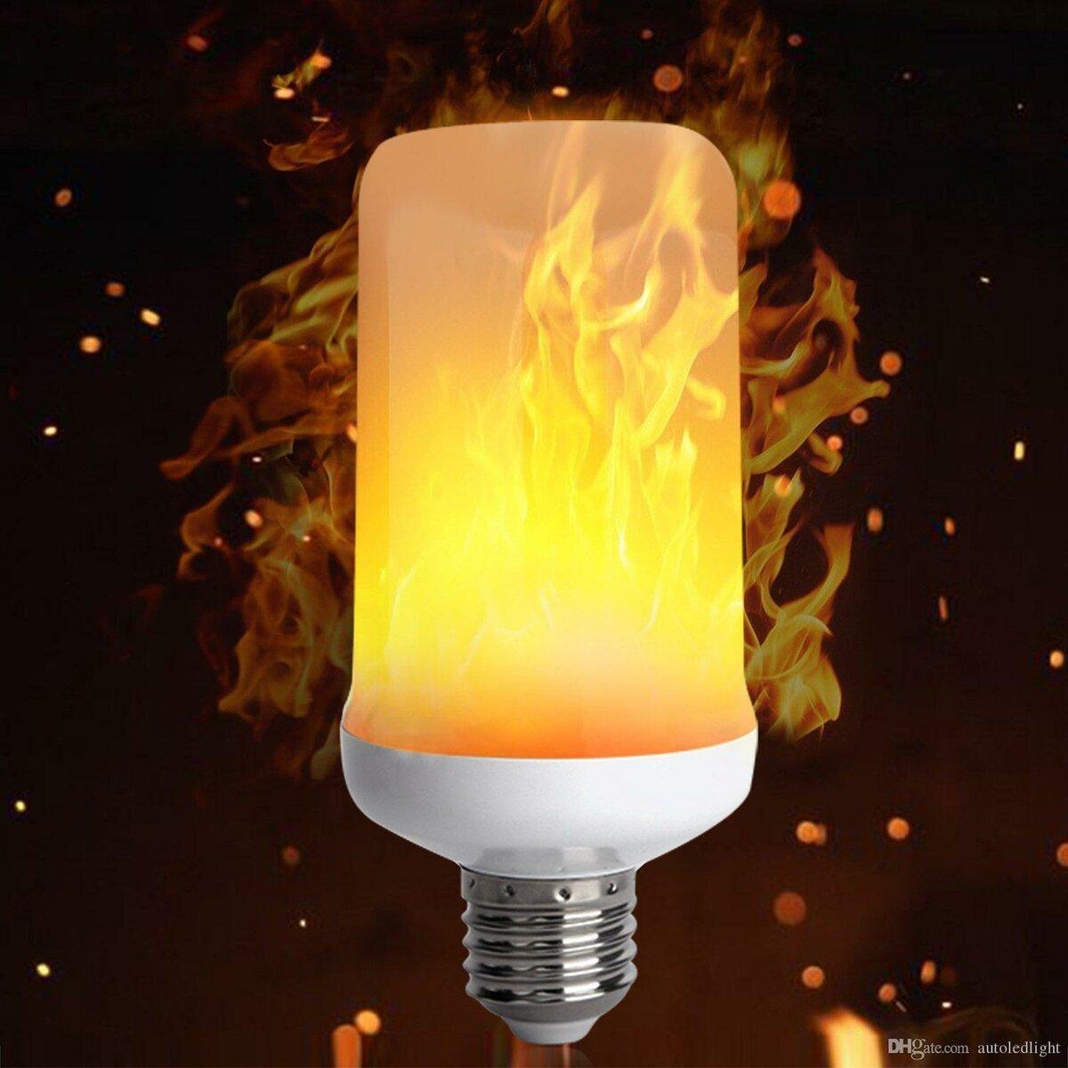Лампа LED с эффектом пламени в Чернушке