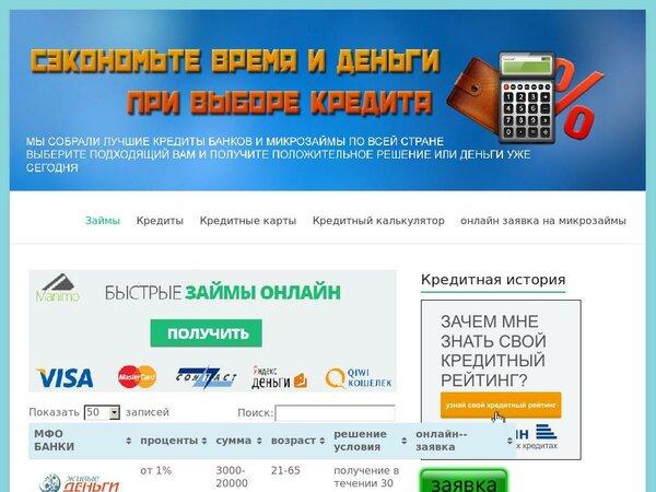 онлайн заявка на кредит наличными в красноярске во все банки 911 кредит займ официальный сайт