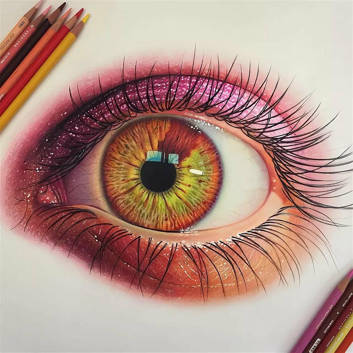 картина цветным карандашом