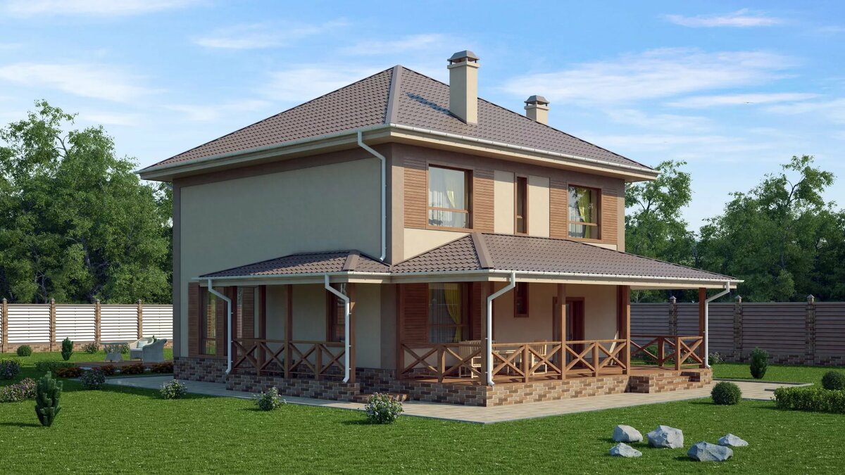 всего кирпичный дом с террасой проекты фото полученные