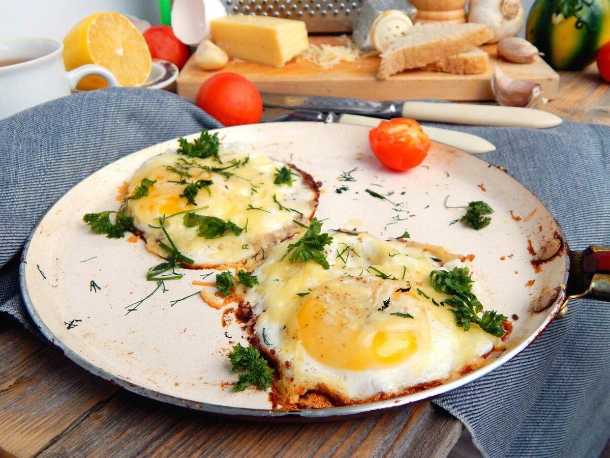 рецепты яичницы на завтрак с фото карнизе