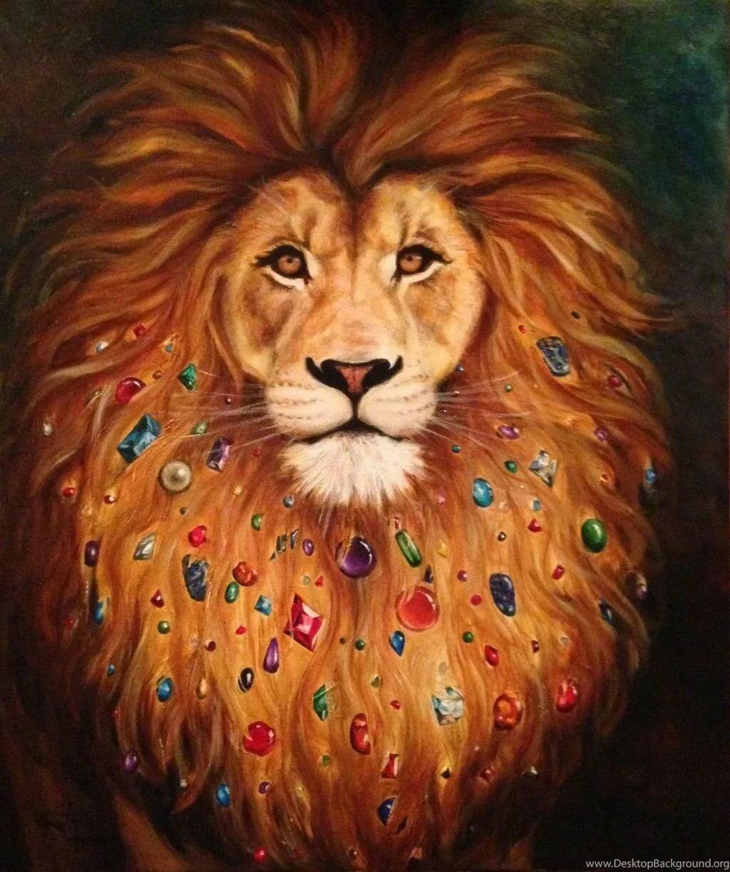 красивая открытка льва красивой очаровательной
