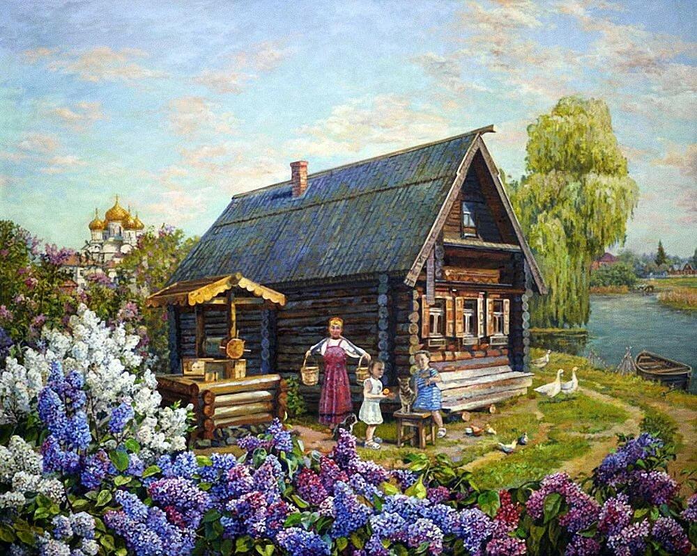 это русские избы в картинах художников вот эти