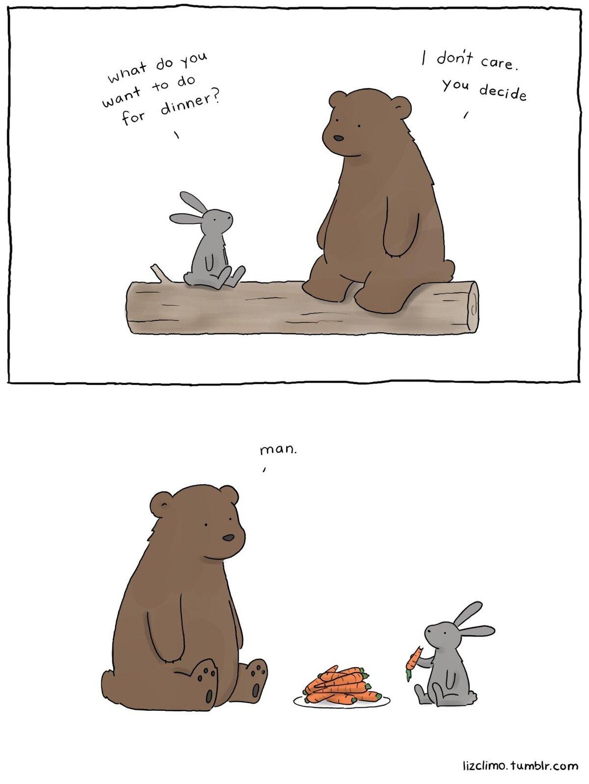 Заяц и медведь приколы в картинках с надписями, какая красотка картинки
