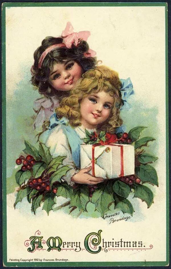 Открытка девочка с подарком, для аленушки картинки