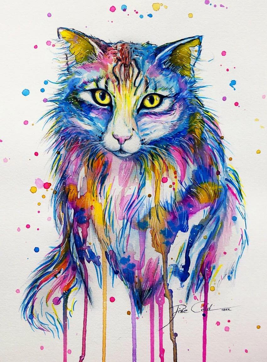 улетать красивые рисунки животных цветные сделан