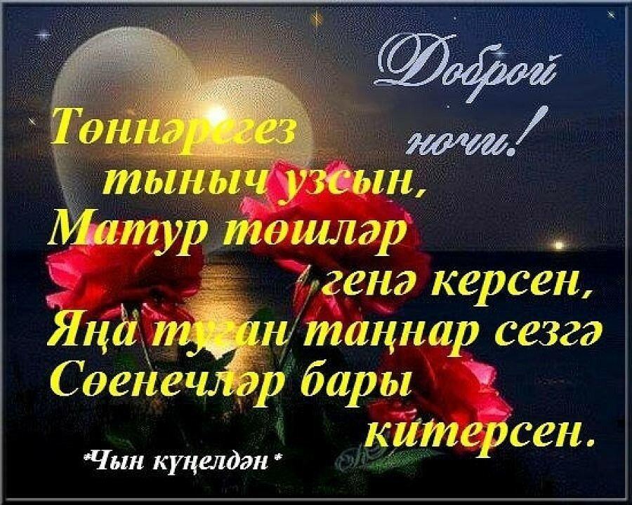 Благодарю, открытки добрый вечер и спокойной ночи на татарском языке