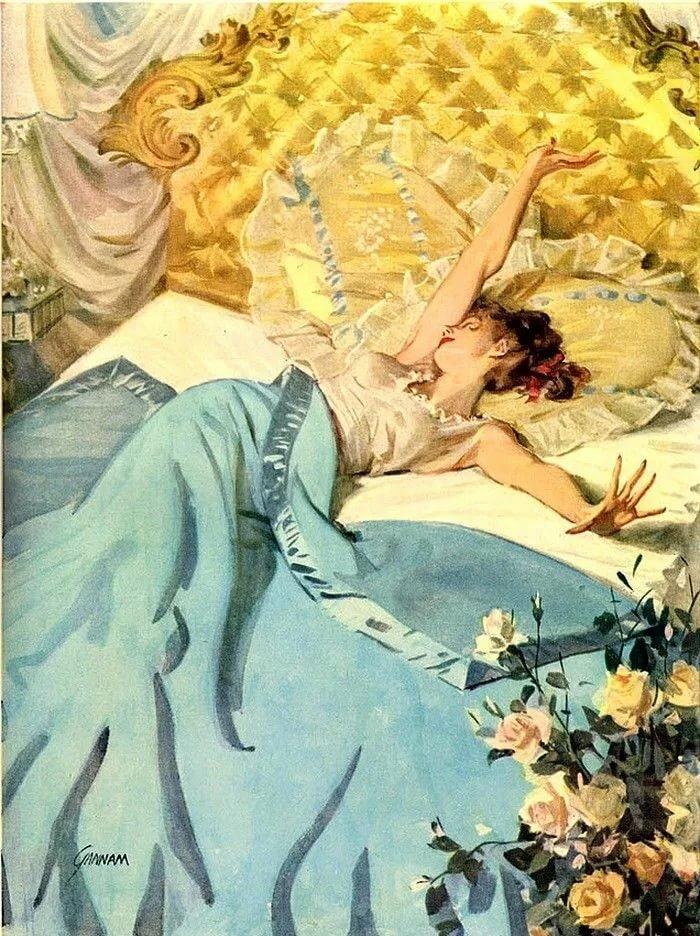 Открытки в постели