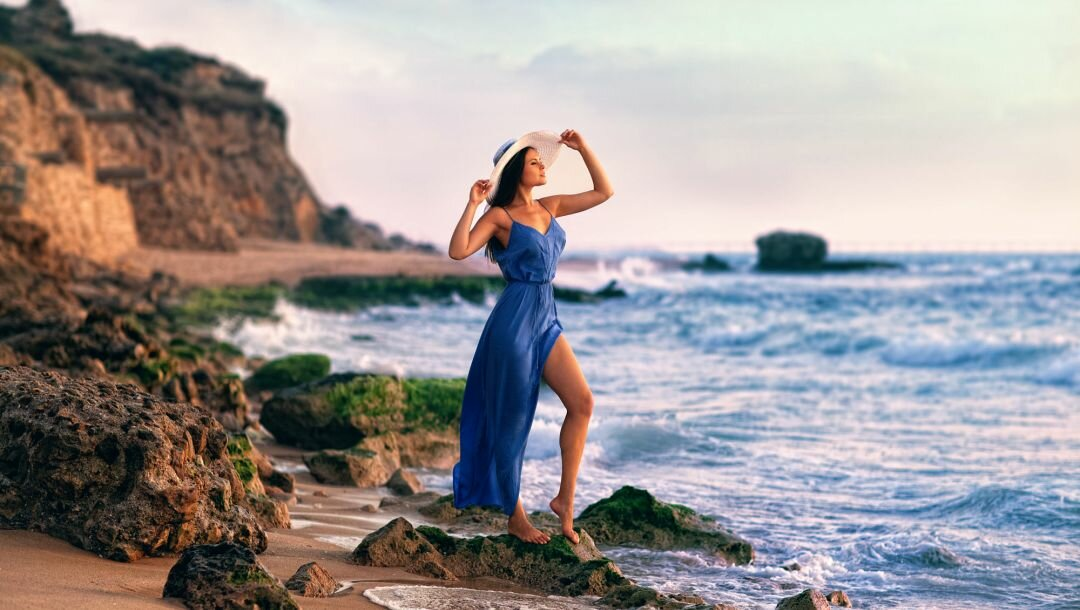 Картинки женщин на море