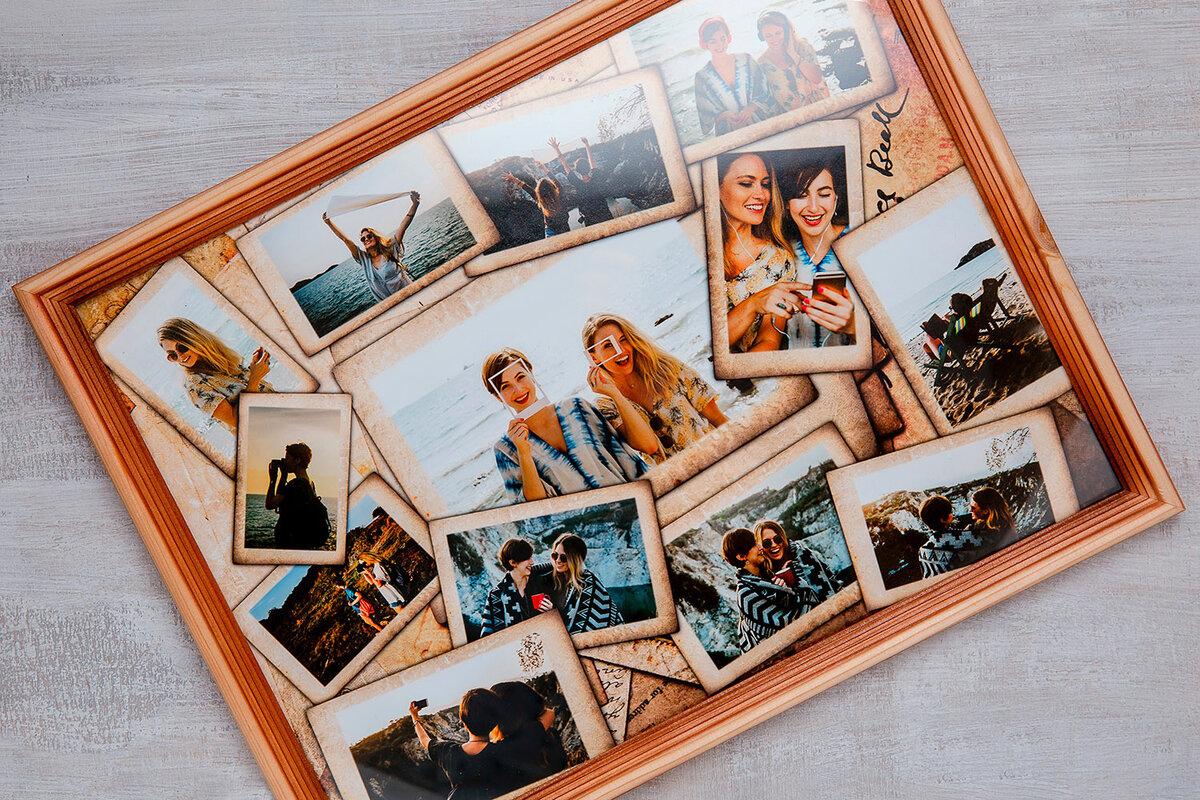 Сделать открытку фотоколлаж