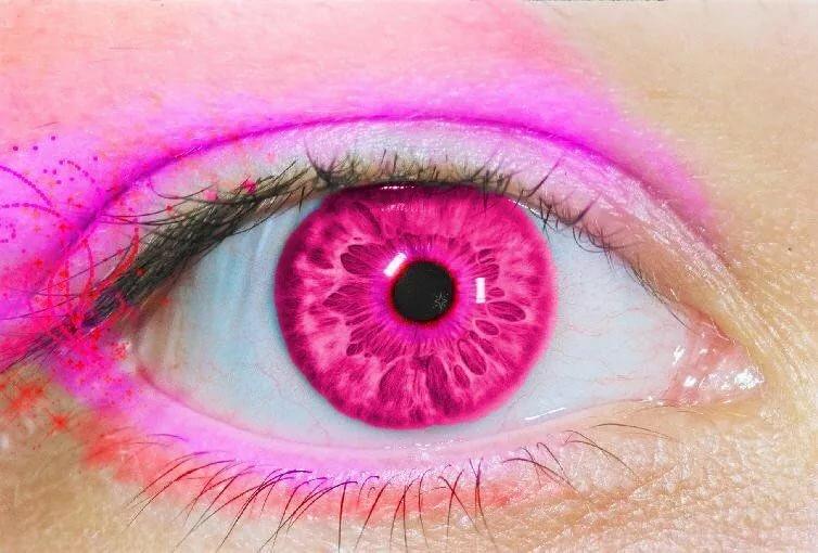 розовые глаза картинка пик задротства