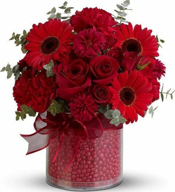 Анимашки букеты цветов, лет браке открытки