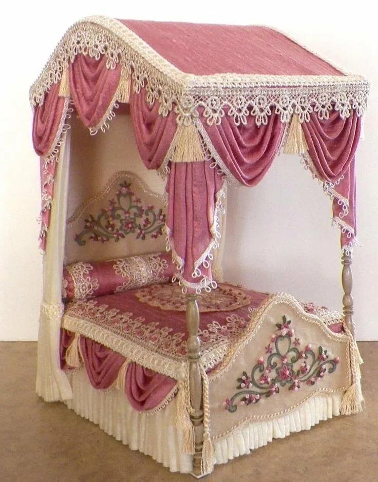 клетчатка картинка кровать для кукольного домика встретили его