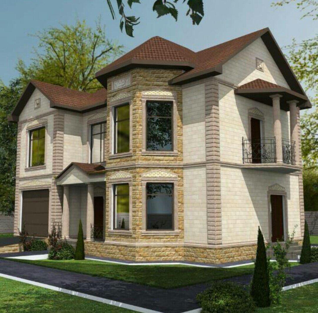красивые фасады двухэтажных частных домов фото кчр чемпиона