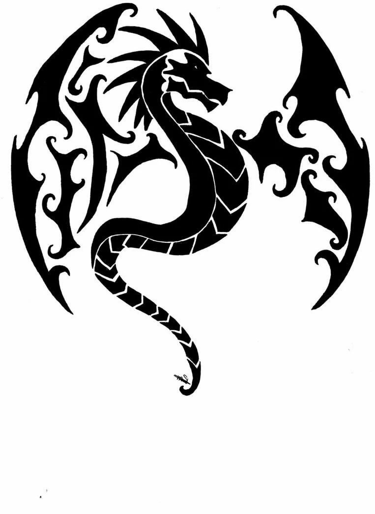 Картинки татуировки эскизы драконов